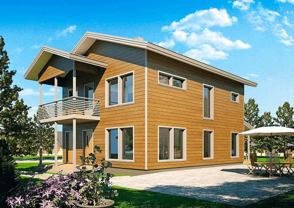 Проект каркасного дома КД-168-2-1367