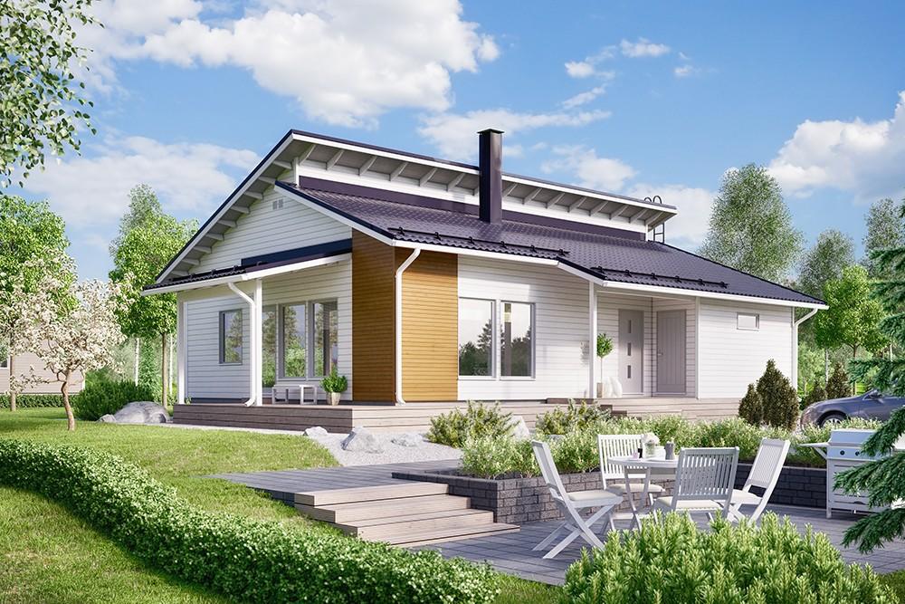 Проект каркасного дома КД-114.5-1-3