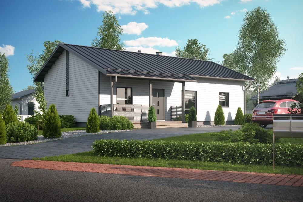 Проект каркасного дома КД-120-1-6