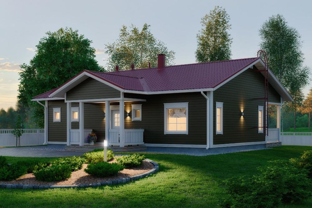 Проект каркасного дома КД-125-1-8