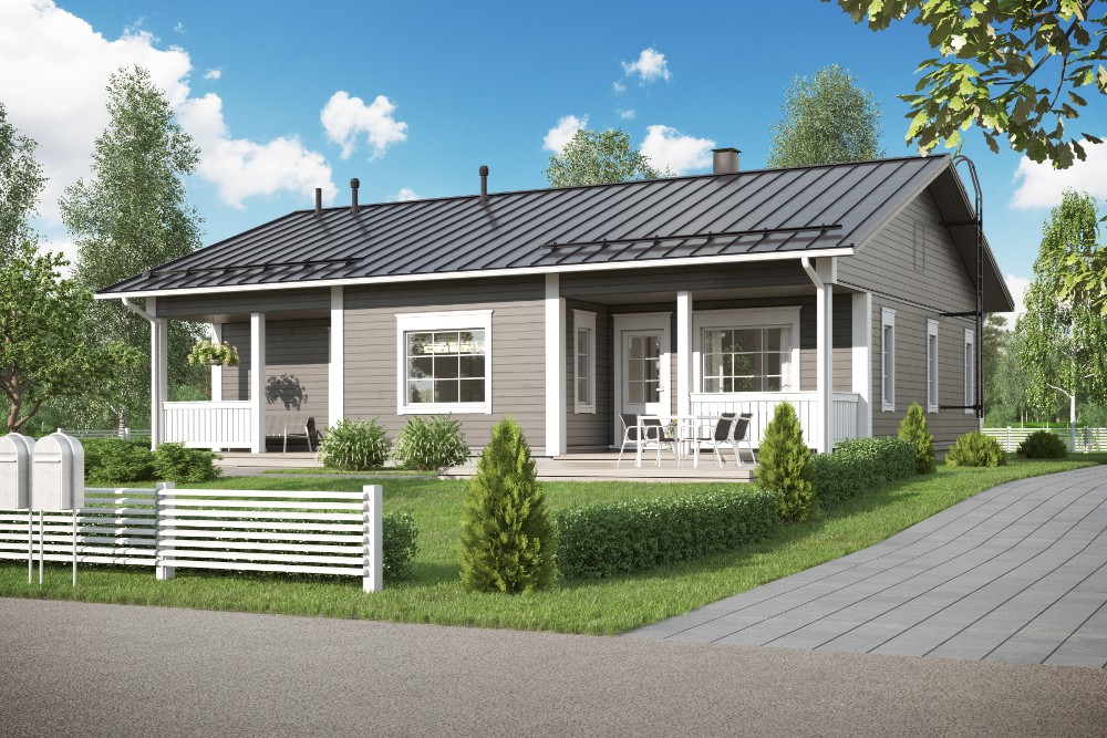 Проект каркасного дома КД-125-1-9
