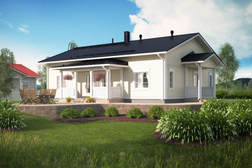 Проект каркасного дома КД-134-1-11