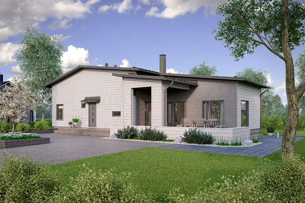 Проект каркасного дома КД-138-1-13