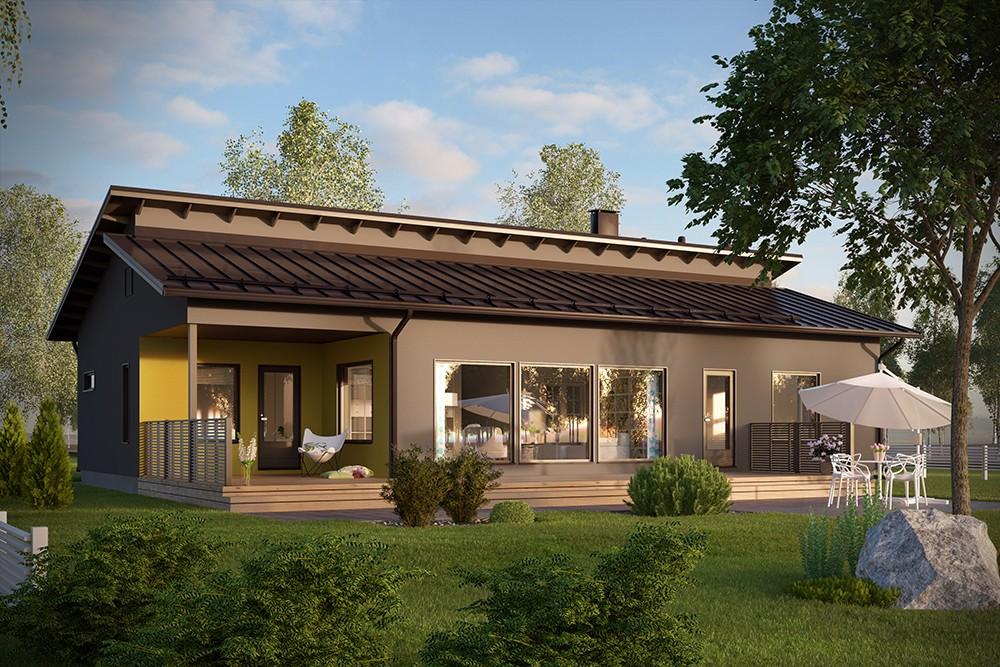 Проект каркасного дома КД-145-1-19