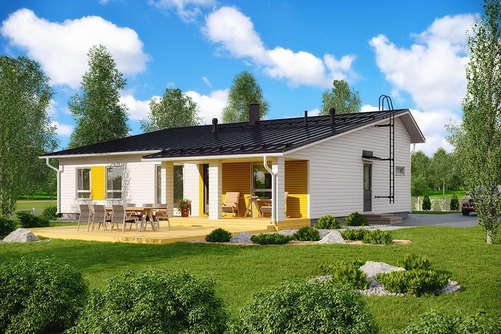 Проект каркасного дома КД-147-1-20