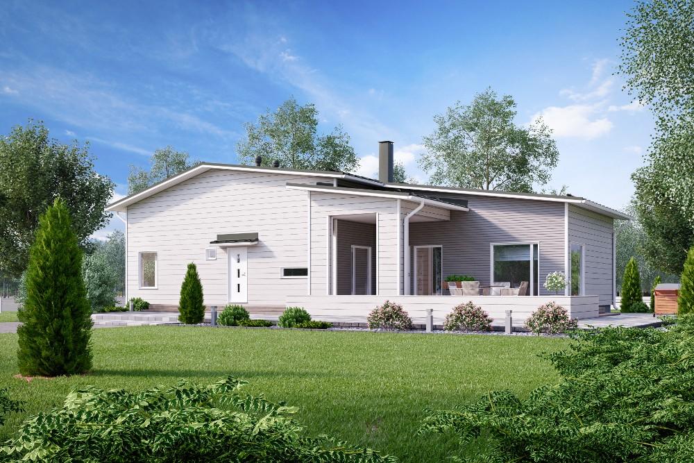 Проект каркасного дома КД-145-1-22