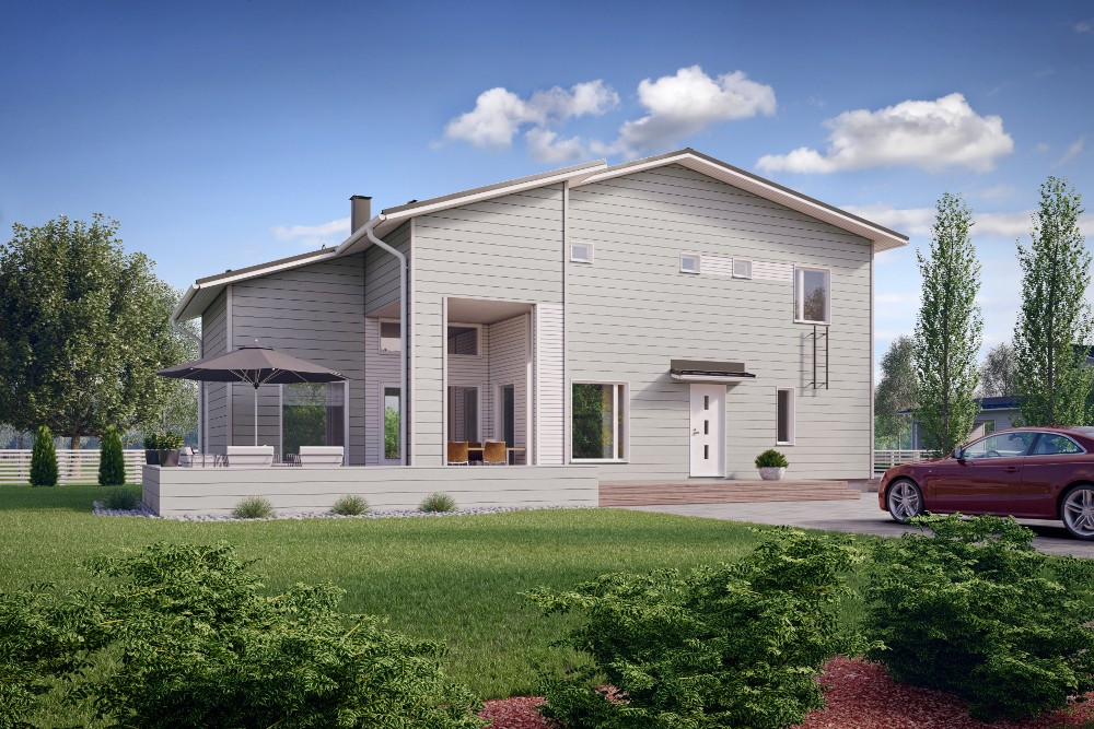 Проект каркасного дома КД-143-2-24