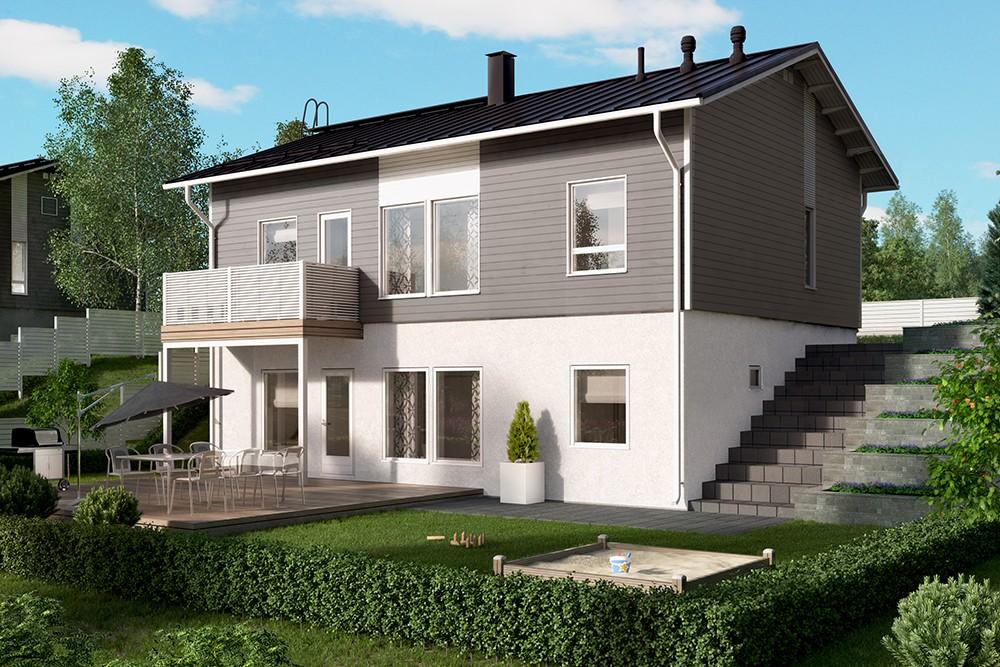 Проект каркасного дома КД-145-2-27
