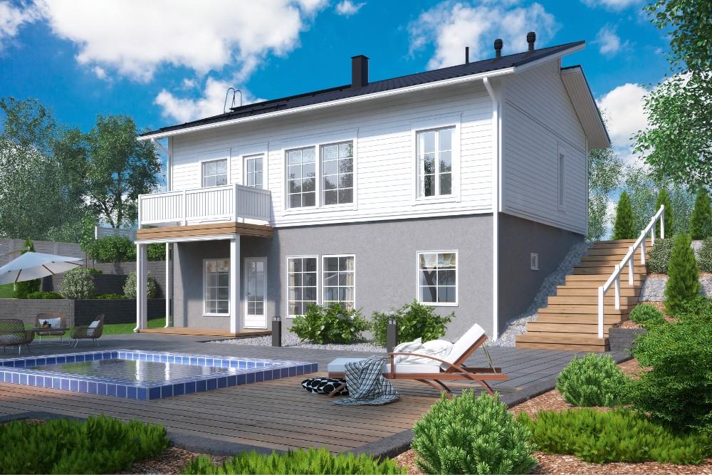 Проект каркасного дома КД-145-2-25