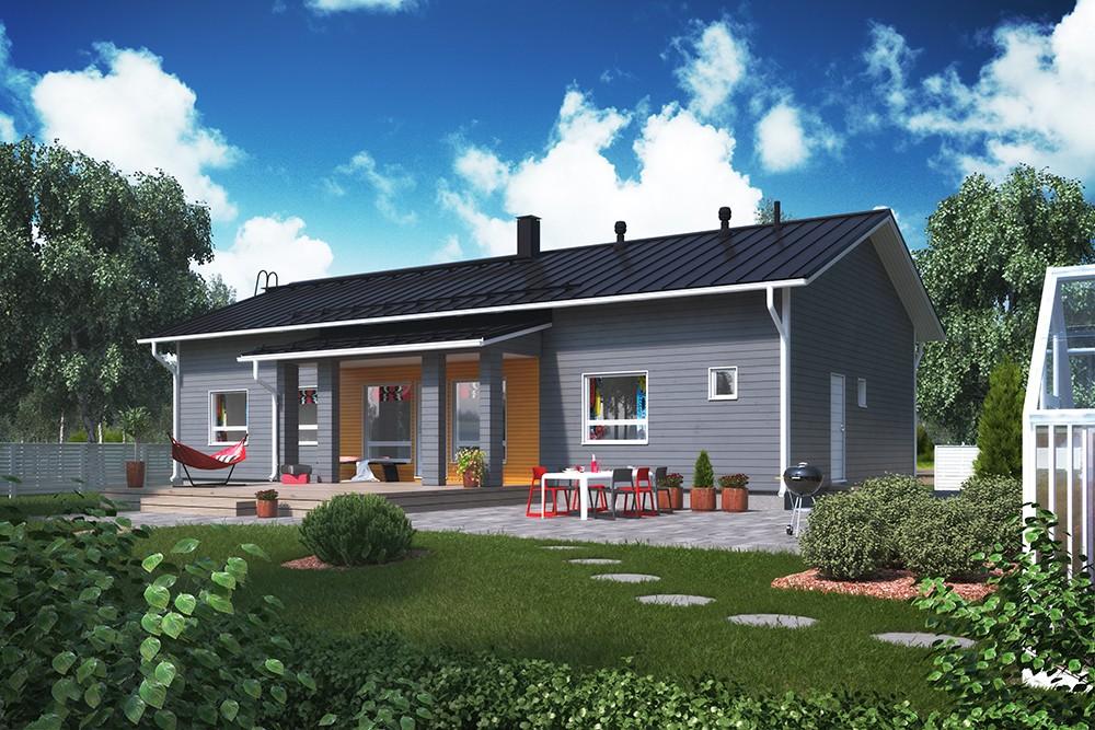 Проект каркасного дома КД-152-1-29