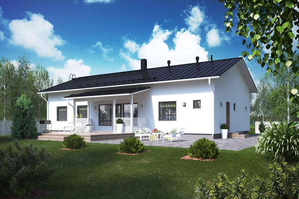 Проект каркасного дома КД-152-1-30