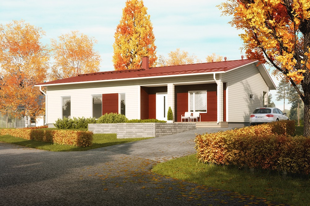 Проект каркасного дома КД-153-1-34