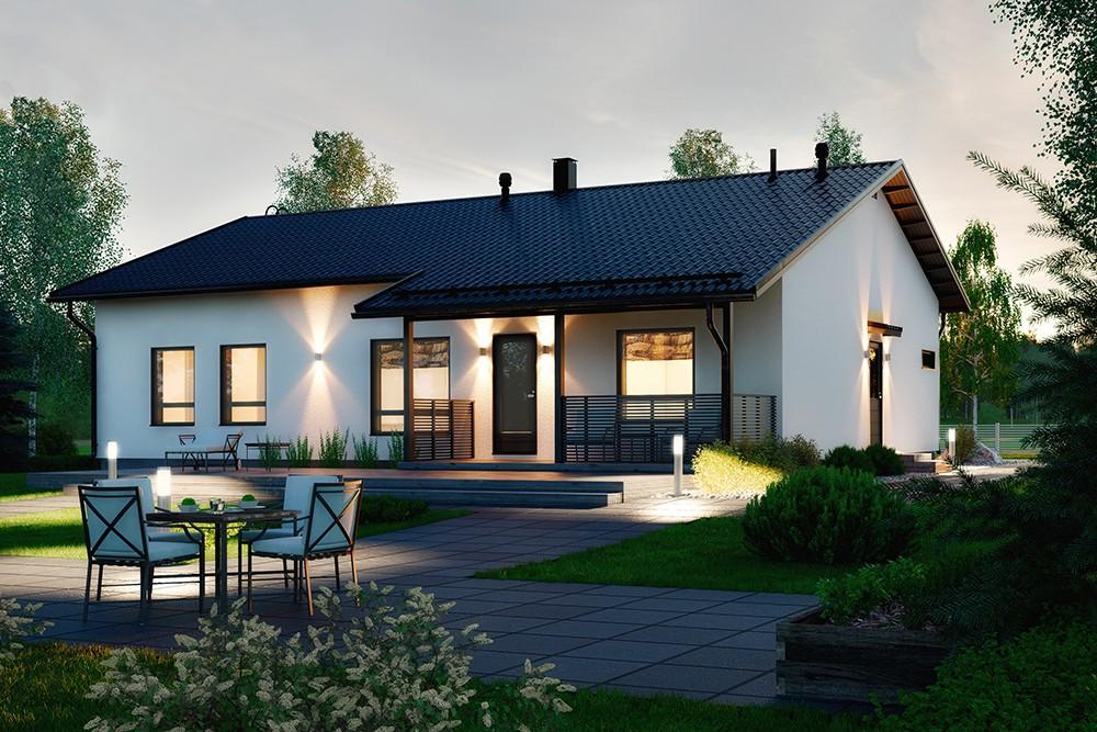 Проект каркасного дома КД-157-1-36