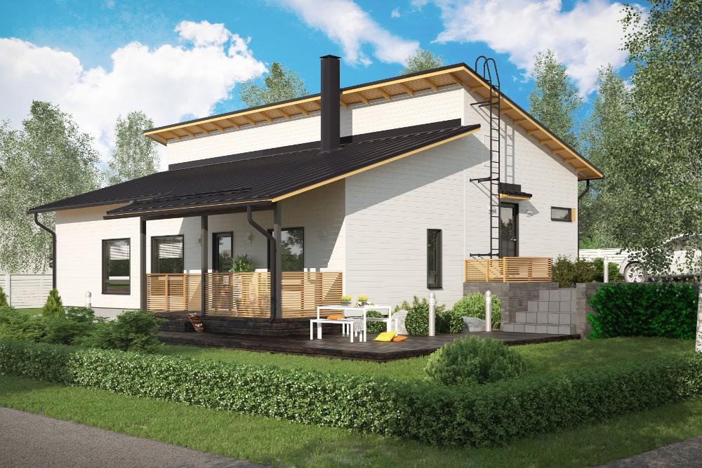 Проект каркасного дома КД-157-1-38