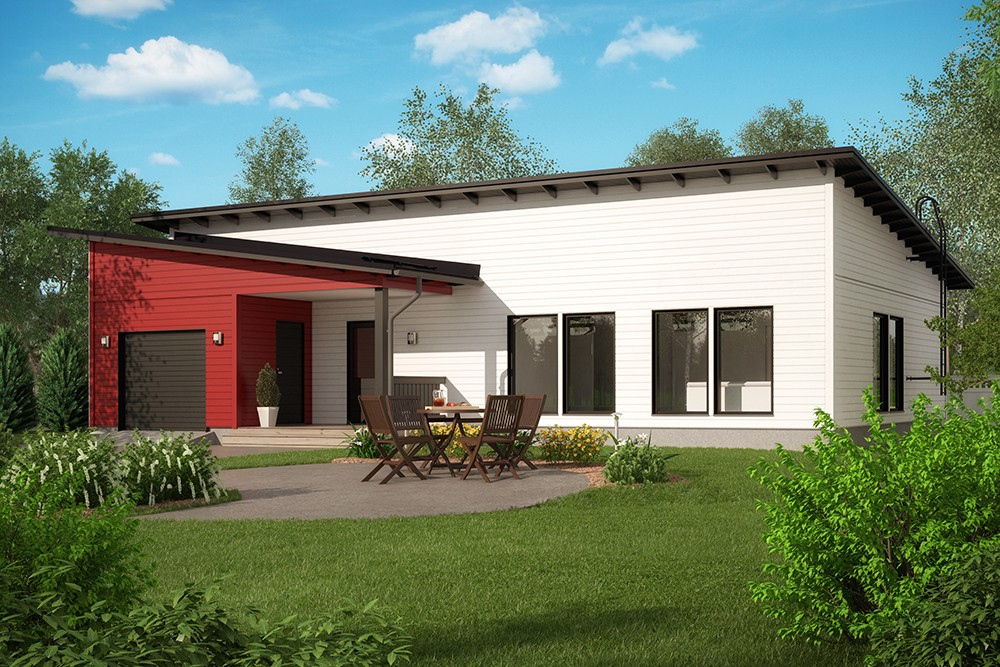 Проект каркасного дома КД-136-1-40