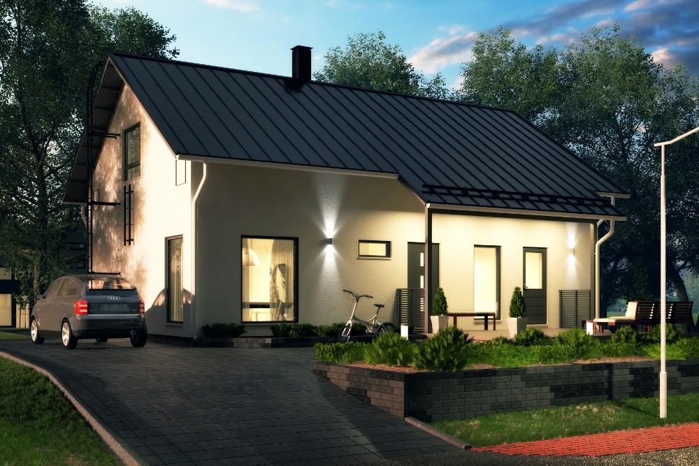 Проект каркасного дома КД-169-1.5-45
