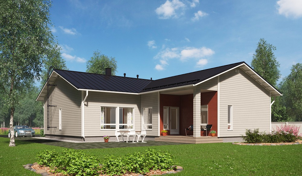 Проект каркасного дома КД-168-1-46