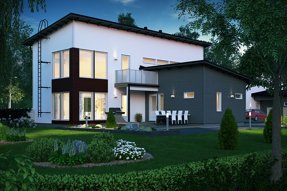 Проект каркасного дома КД-166-2-48