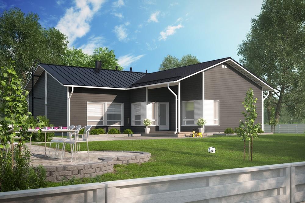 Проект каркасного дома КД-168-1-50