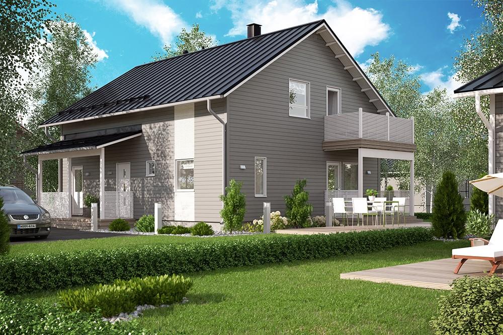 Проект каркасного дома КД-176-1.5-52