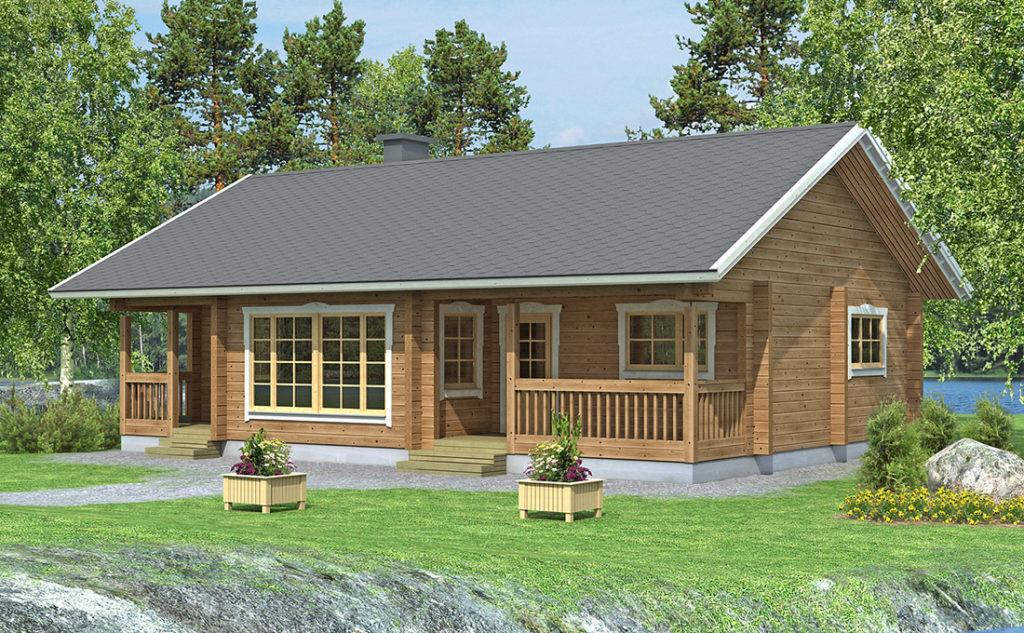 Проект каркасного дома КД-89-1-1100