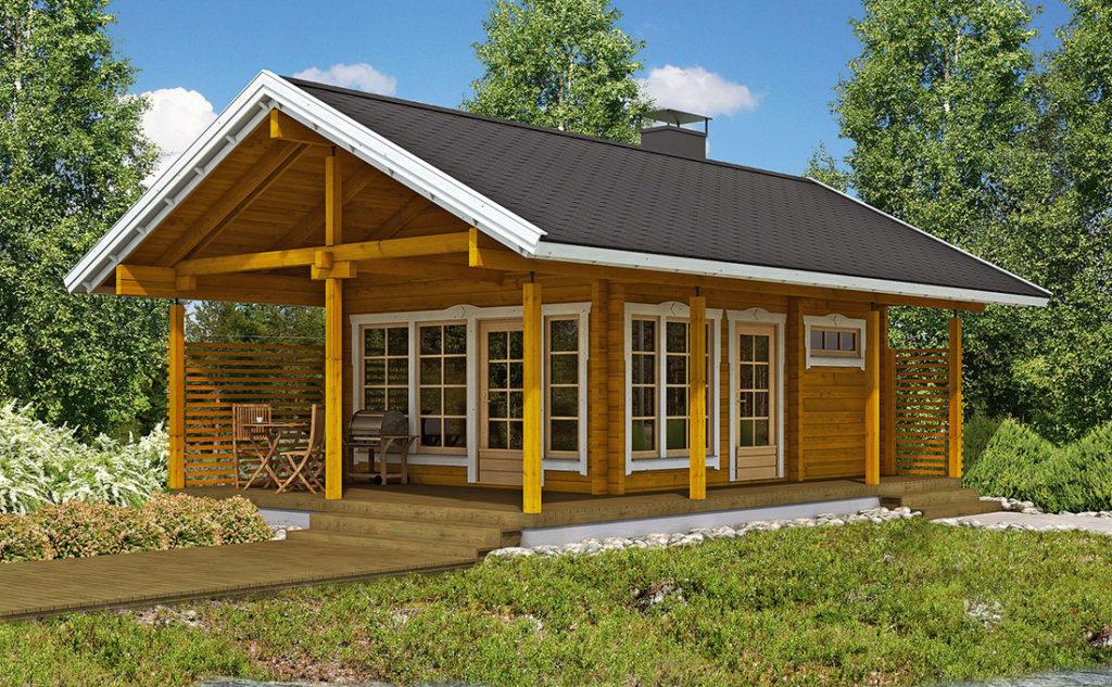 Проект каркасного дома КД-55-1.5-1085
