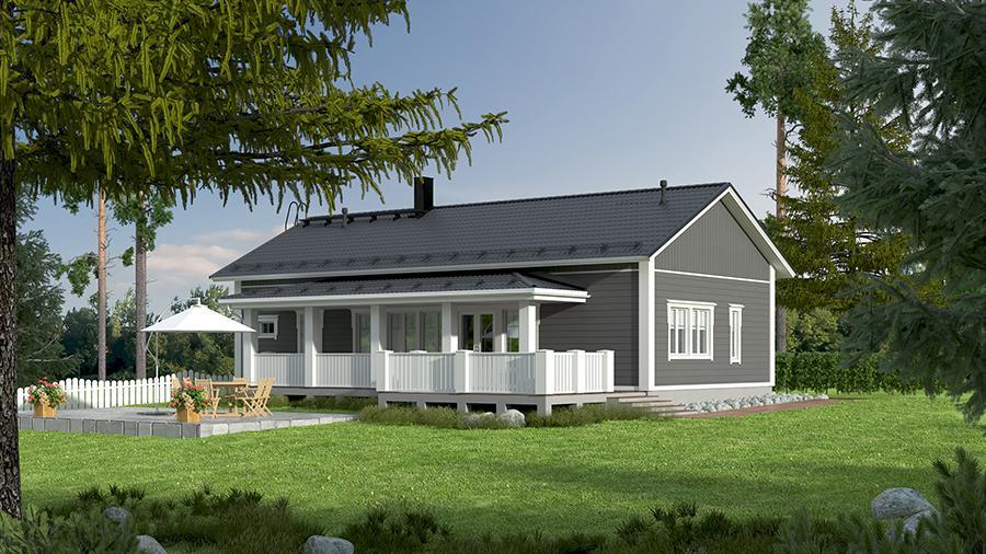 Проект каркасного дома КД-124-1-1009