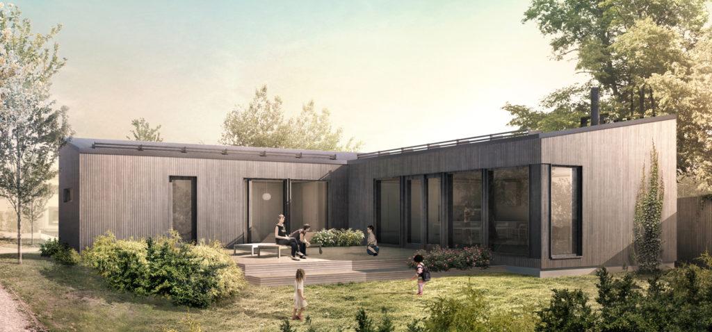 Проект каркасного дома КД-118-1-15
