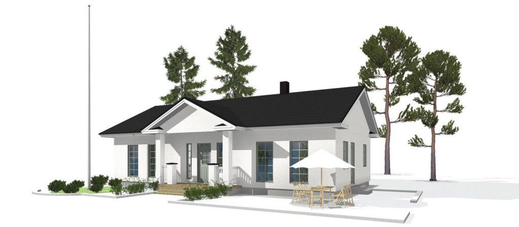 Проект каркасного дома КД-130-1-2590