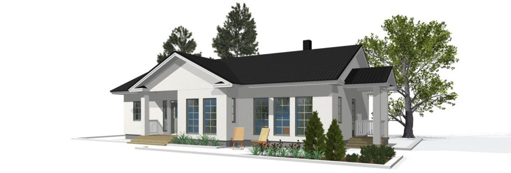 Проект каркасного дома КД-142-1-2591