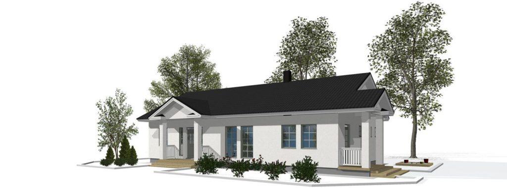 Проект каркасного дома КД-146-1-2592