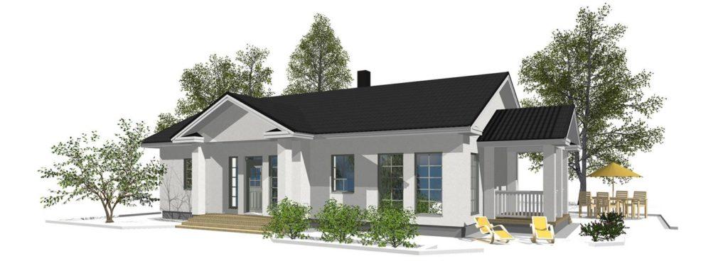 Проект каркасного дома КД-187-1-2594