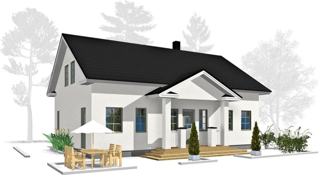 Проект каркасного дома КД-189-1.5-2596