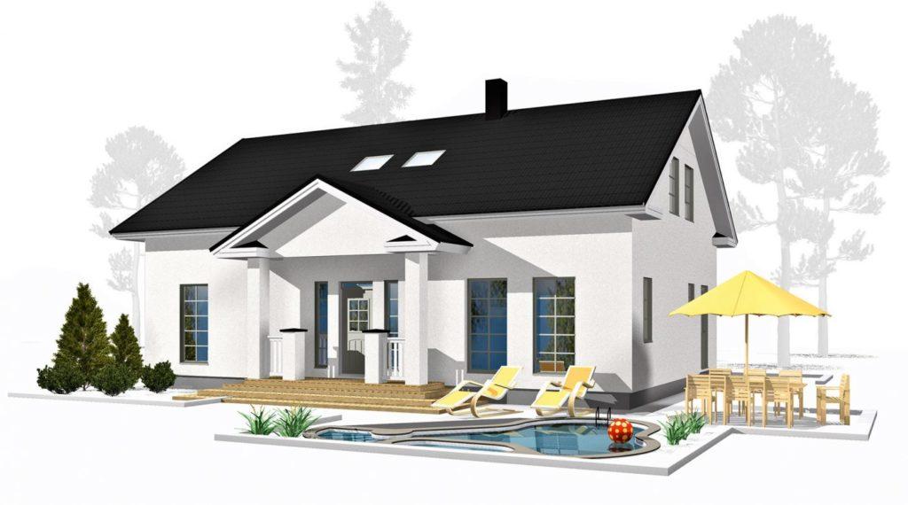 Проект каркасного дома КД-187-1.5-2597