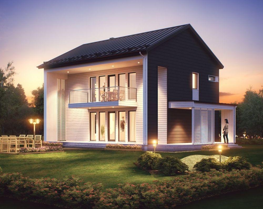 Проект каркасного дома КД-144-2-2582