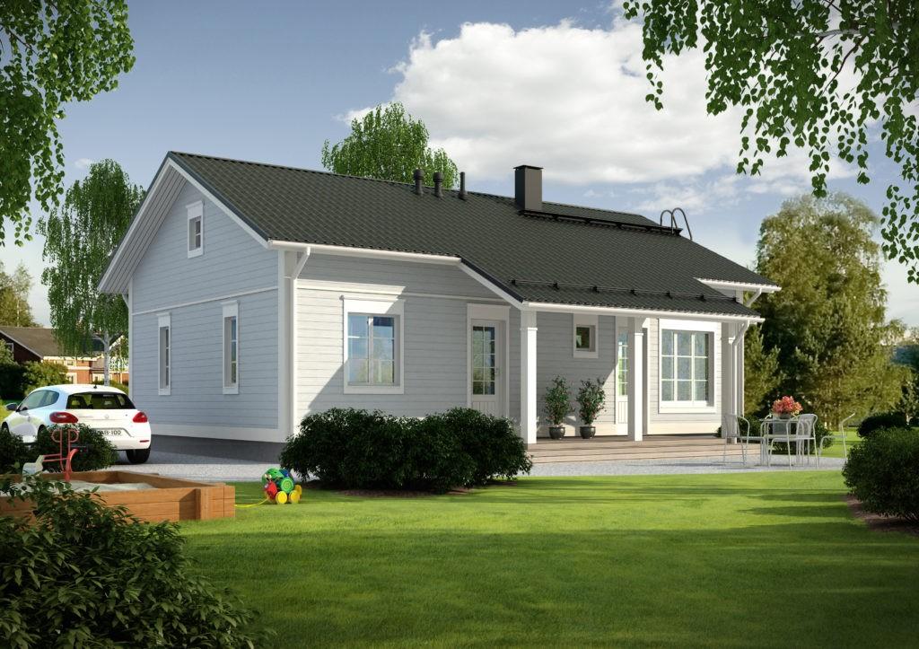Проект каркасного дома КД-100-1-1021
