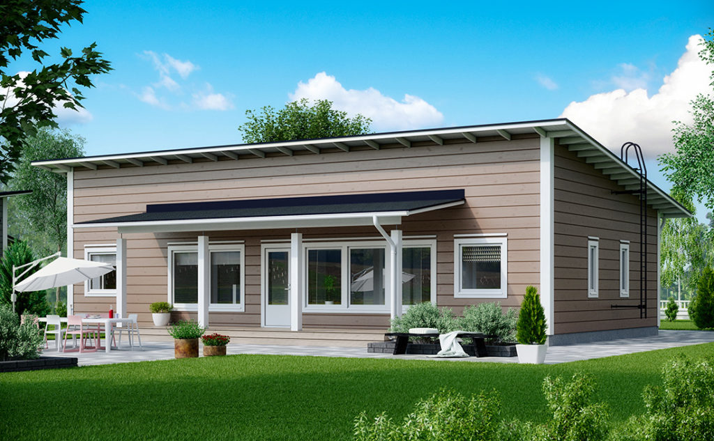 Проект каркасного дома КД-129-1-1114