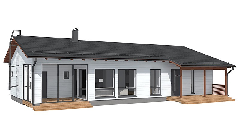 Проект каркасного дома КД-145-1-1167