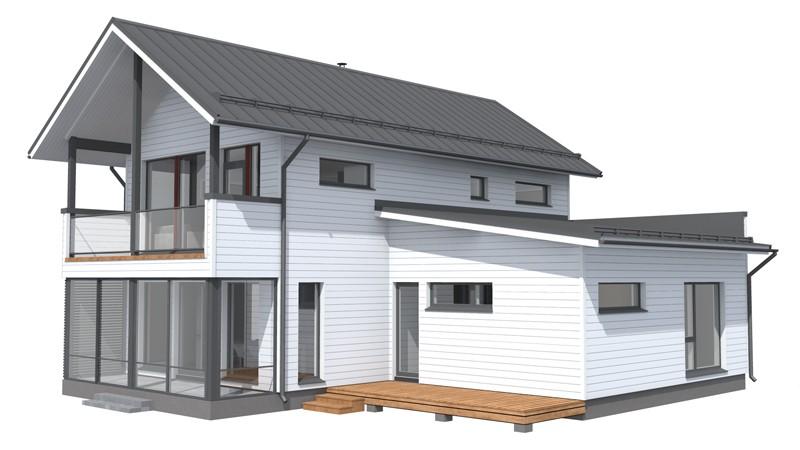 Проект каркасного дома КД-184-2-1181