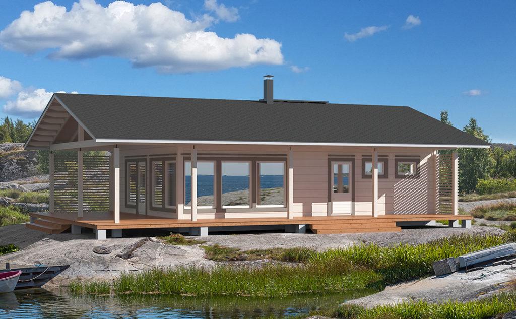 Проект каркасного дома КД-126-1-1051