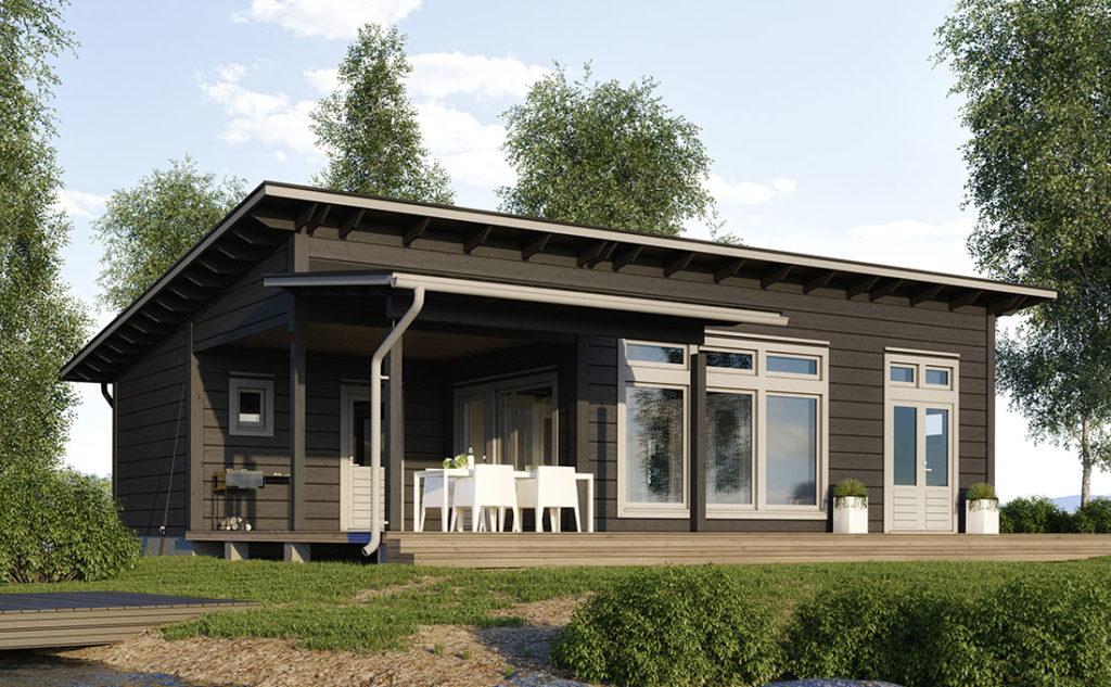 Проект каркасного дома КД-128-1-1053