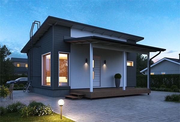 Проект каркасного дома КД-39-13