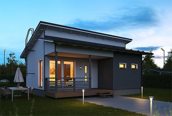 Проект каркасного дома КД-50-10