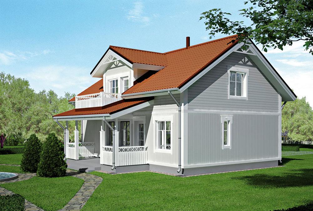 Проект каркасного дома КД-150-14