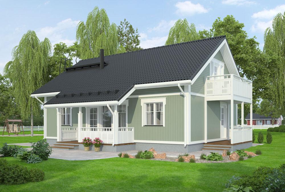 Проект каркасного дома КД-134