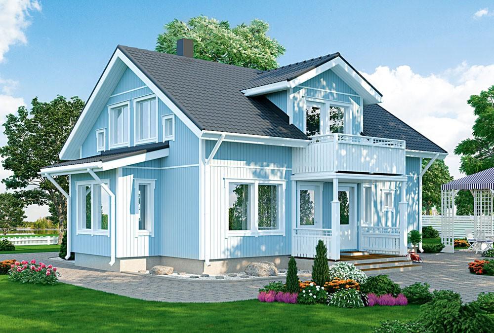Проект каркасного дома КД-165-7