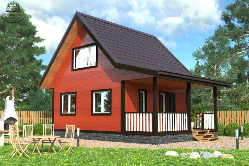 Проект каркасного дома КД-56