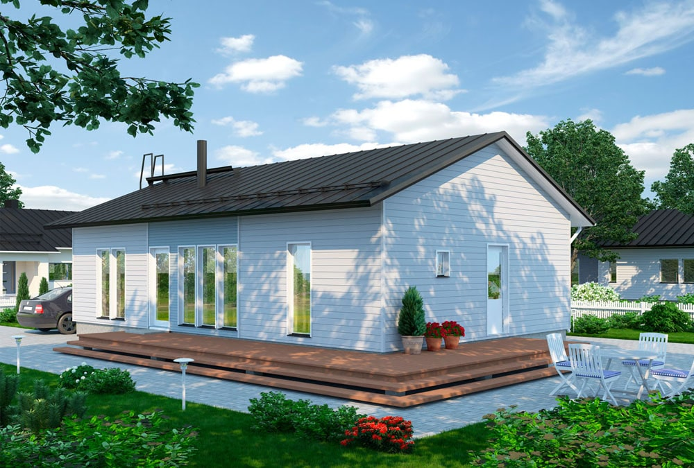 Проект каркасного дома КД-101