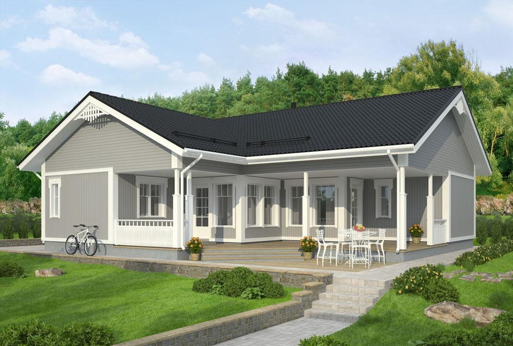 Проект каркасного дома КД-124-40
