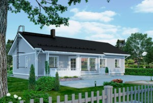 Проект каркасного дома КД-140-22